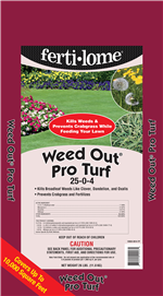 Weed Out Pro Turf 25-0-4 (26 lbs)