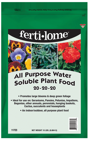 All Purpose Water Soluble Plant Food 20-20-20 (15 lb)