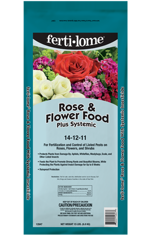Rose and Flower Food Plus Systemic 14-12-11 (15 lbs)