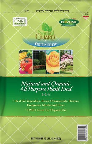 Natural and Organic All Purpose Plant Food 4-4-4 (12 lbs)