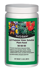 All Purpose Water Soluble Plant Food 20-20-20 (1.5 lb)