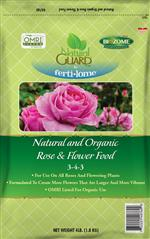 Natural and Organic Rose & Flower Food  3-4-3 (4 lbs)